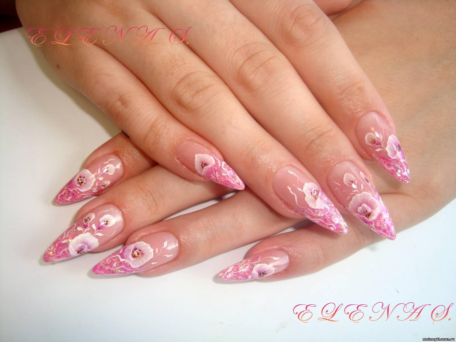 Роспись ногтей домашнее фото 4