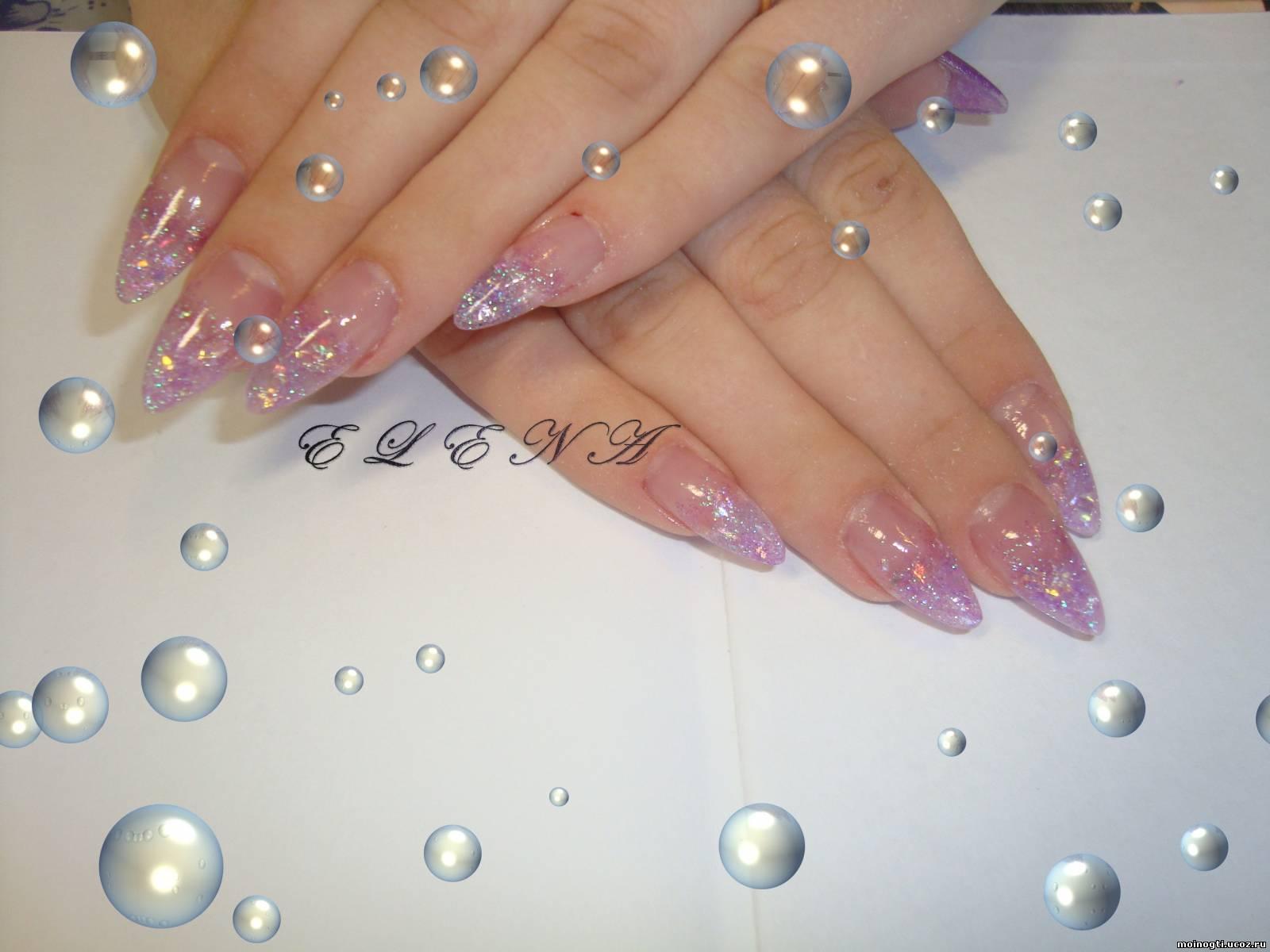 Фото дизайна ногтей слюда